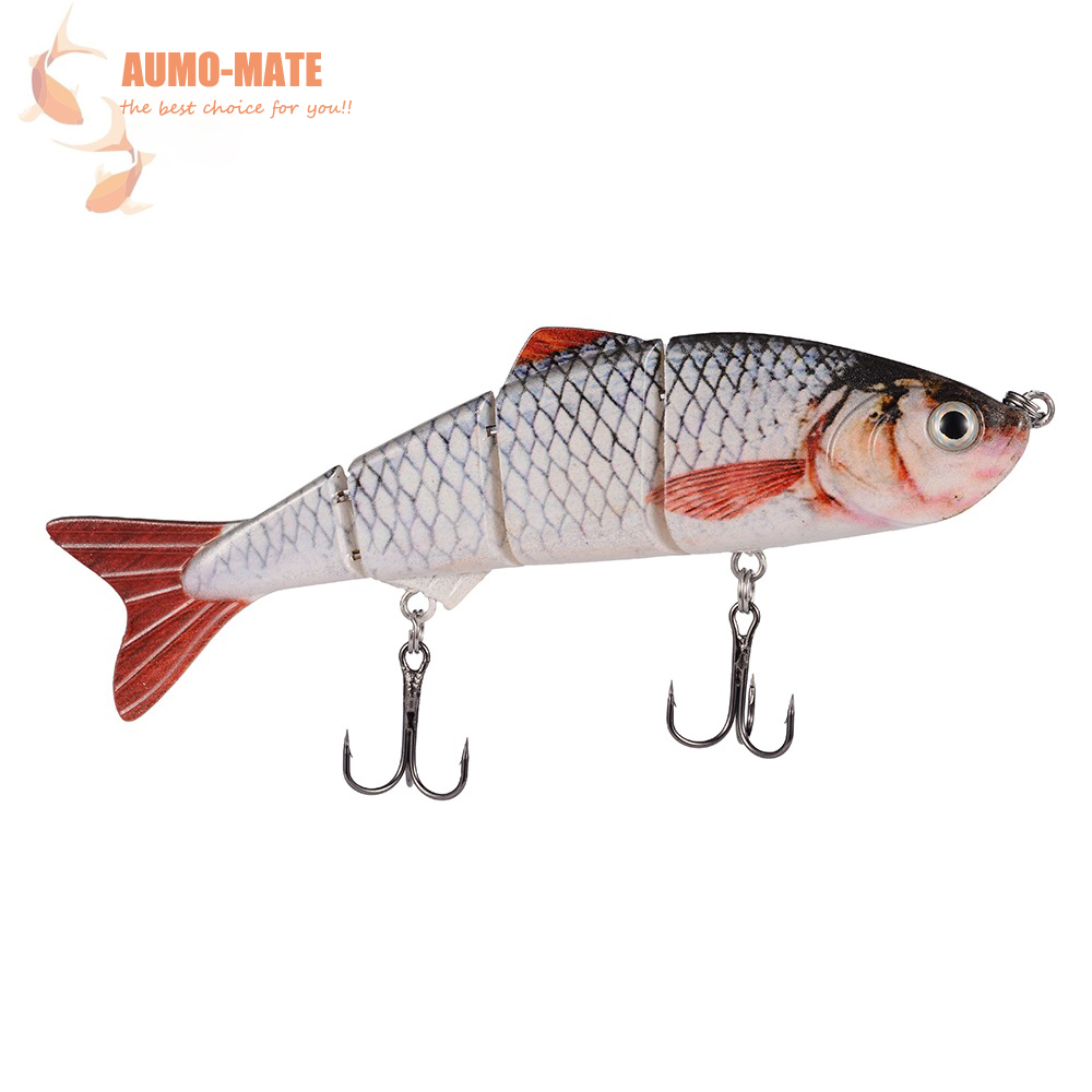 1Piece Fishing Boat Carp Fishing Accessories Artificial PVC 3D Fish Fishing Lure Silicone With Double Carbon Steel Hooks 122mm