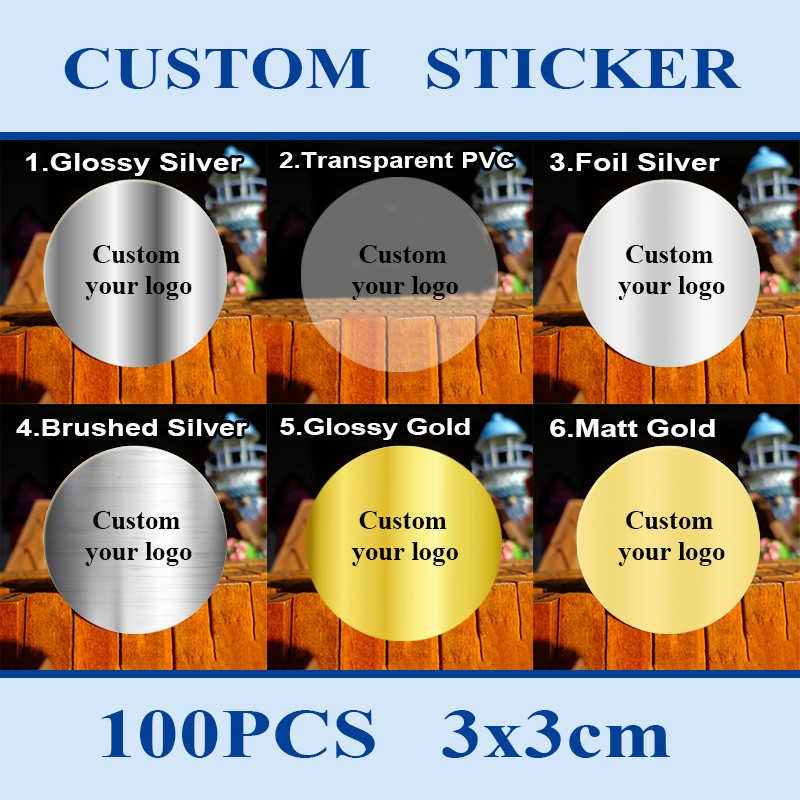 custom stickers labels printed LOGO Coated Art Paper Adhesive Stickers Customize Custom Waterproof Label Stickers