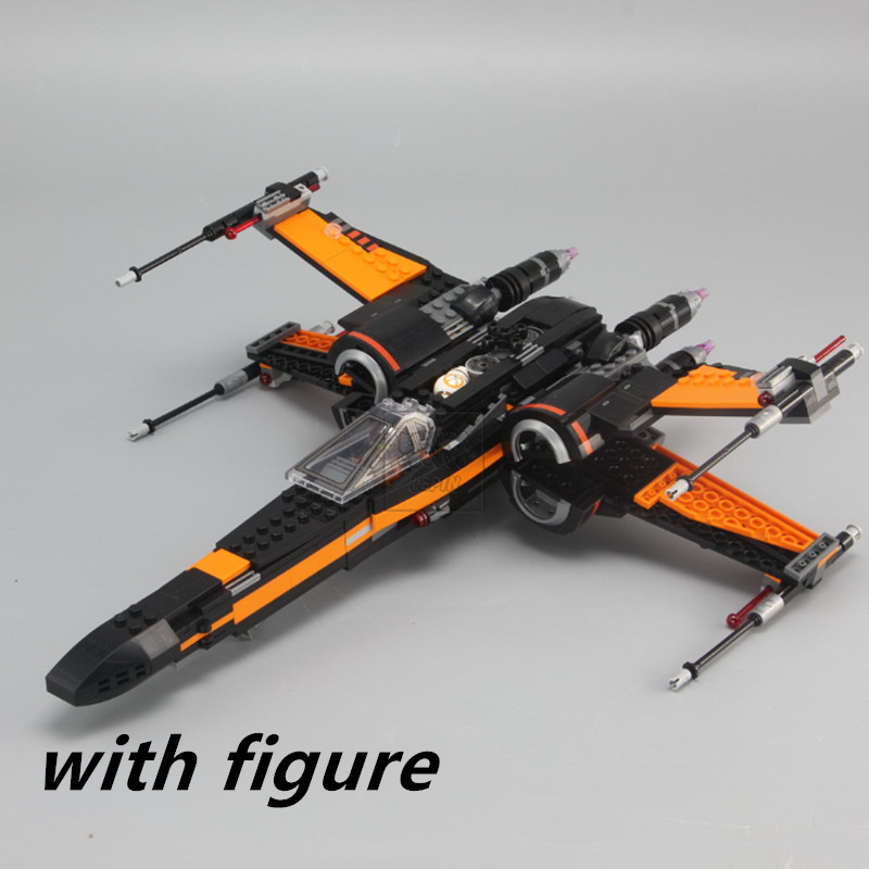 LEPIN X Kanat 05004 ucs Fighter uyumlu legoing STARWARS star wars 75102 X-wing Fighter yapı taşları tuğla