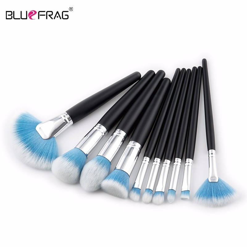 BLUEFRAG 10pcs brushes for makeup Foundation Power Eye shadow Blending Contour Highlight Cosmetic Beauty Make up Brush Tool Kits