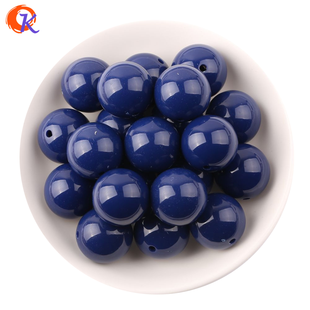 S5 Cordial Design 20MM 100pcs/Lot Navy Blue Chunky Gumball Bubblegum Acrylic Solid Beads ,Colorful Chunky Beads For Jewelry