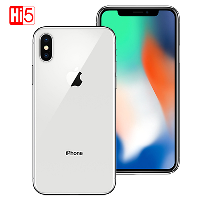 2017 Unlocked Orijinal Apple iphone X 5.8 3 GB ROM 64 GB/256 GB Face ID 2716 mAh Hexa Çekirdek 12MP iOS 4G LTE SmartPhone parmak izi